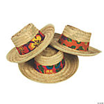 Straw Beach Hats with Hibiscus Hatbands