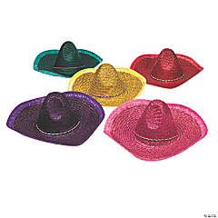 Adult's Woven Straw Sombreros