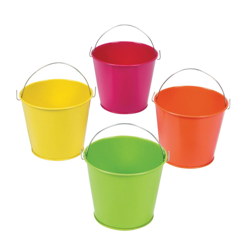 Neon Pails - Easter & Easter Baskets & Grass
