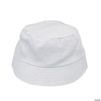 DIY Child's White Bucket Hats
