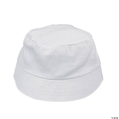DIY Child's White Bucket Hats - 12 pcs.