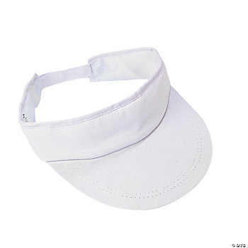 DIY Simple White Visors