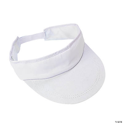 DIY Simple White Visors - 12 pcs.