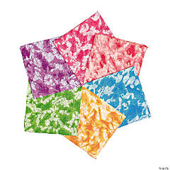 Polyester Tie-Dyed Bandanas