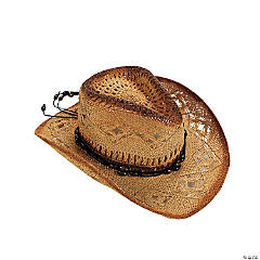 Woven Natural Color Western Hat