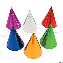 Metallic Cone Hats