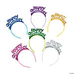 "12 ""Happy Birthday"" Headbands"
