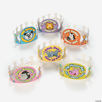 "12 ""100th Day"" Animal Crowns"