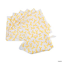 Yellow Awareness Ribbon Bandanas