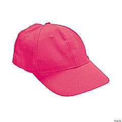 Dark Pink Baseball Caps