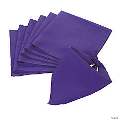 Polyester Purple Bandanas