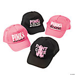 Pink Ribbon Baseball Hat Assortment