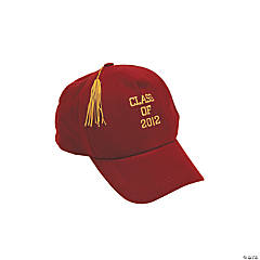 "Burgundy ""Class Of 2012"" Baseball Cap"
