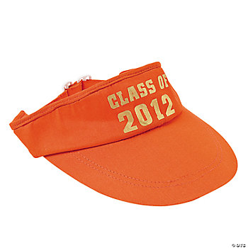 """Class Of 2012"" Orange Visors"