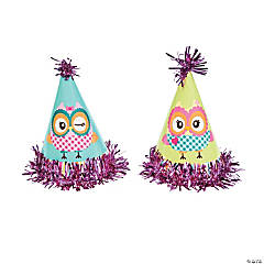 Owl Party Hats with Tinsel