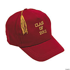 """Class Of 2013"" Red Baseball Caps"