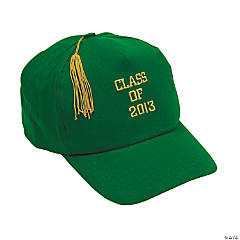 """Class Of 2013"" Green Baseball Caps"