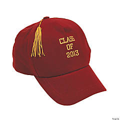 """Class Of 2013"" Burgundy Baseball Caps"