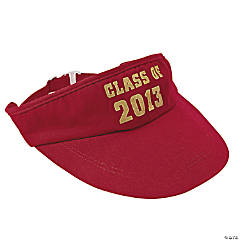 """Class Of 2013"" Red Visors"