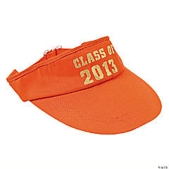 """Class Of 2013"" Orange Visors"
