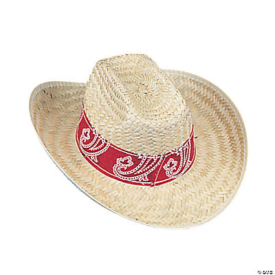 Western Cowboy Hats with Red Bandana