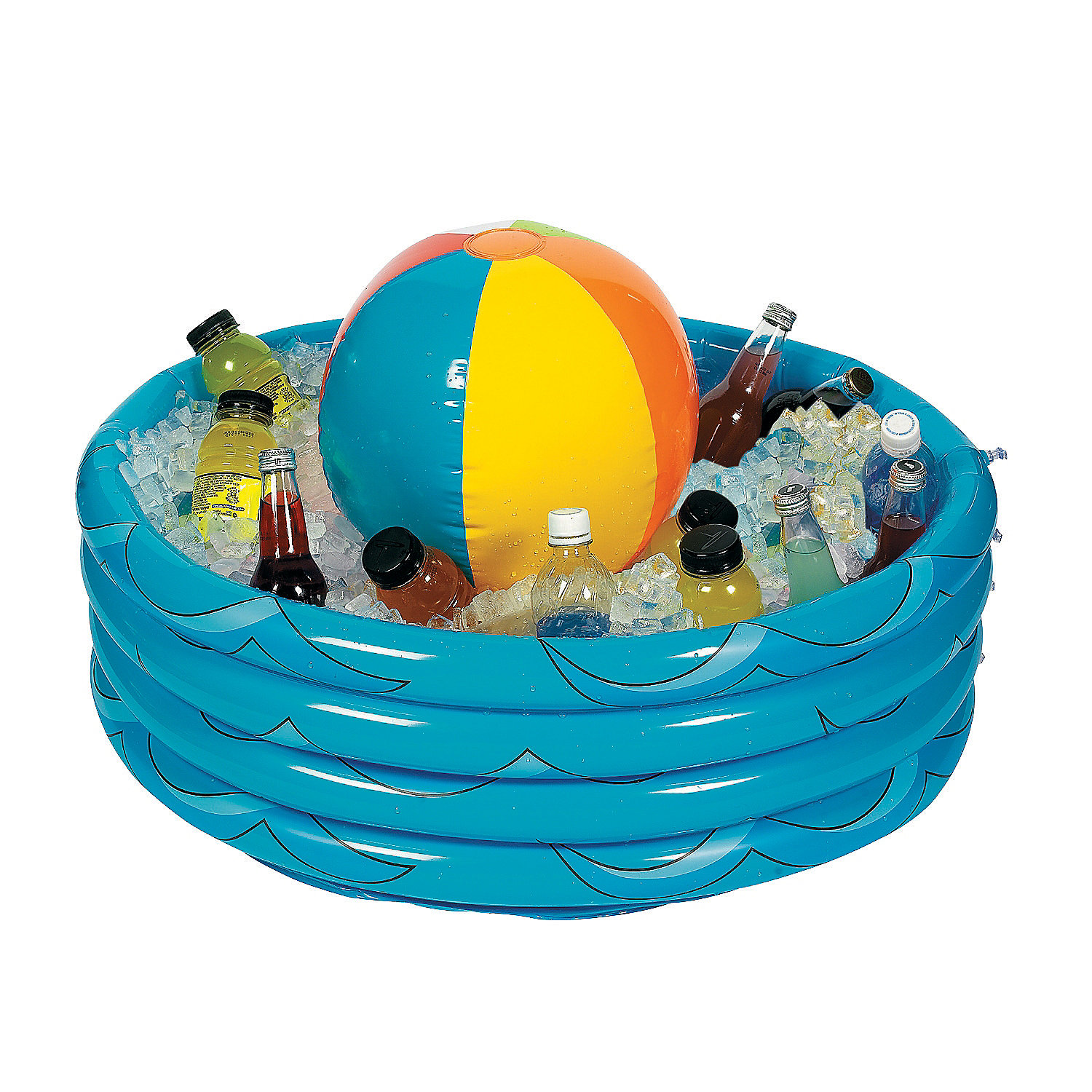 Inflatable beach ball in pool cooler oriental trading for Pool trading