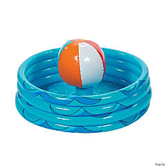 Inflatable Beach Ball in Pool Cooler