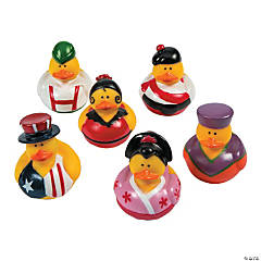 Vinyl Around the World Rubber Duckies