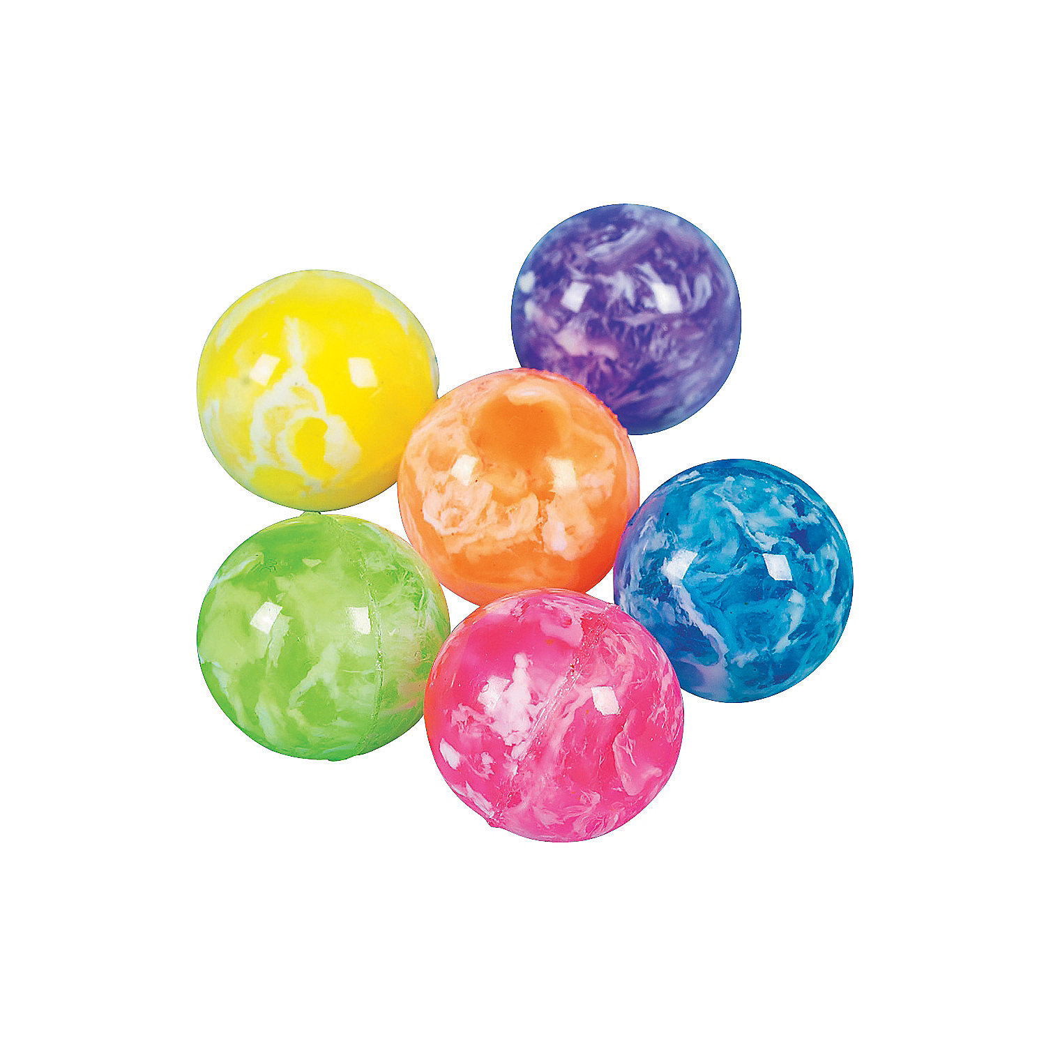 bouncy balls 10/20pcs funny bounce balls each ball have a funny toy in it,wrenching it,you get it,so funny and interesting led light up smiley bouncy balls they are made of a silicone/rubber material.