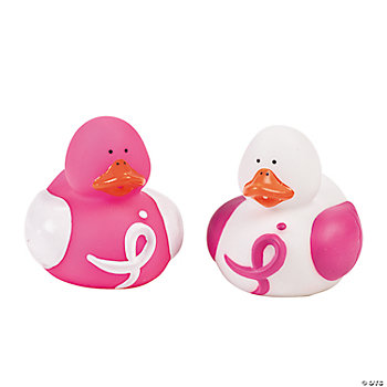Pink Ribbon Awareness Rubber Duckies