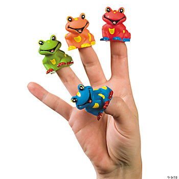 Tree Frog Finger Puppets