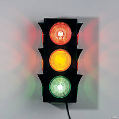 Plastic 3-Sided Blinking Traffic Light