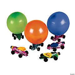12 Metallic Car Balloon Racers