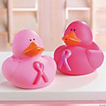 Pink Ribbon Rubber Duckies