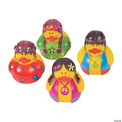 Vinyl Hippie Rubber Duckies