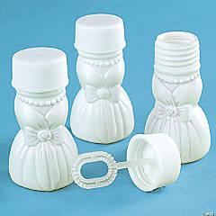 plastic wedding gown bubbles