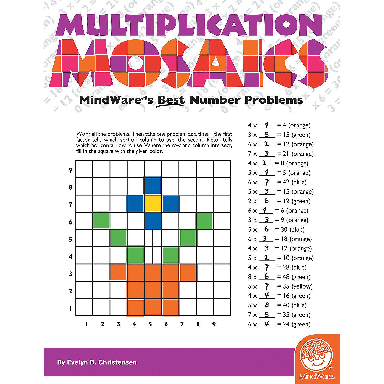 Multiplication Mosaics, Brainteasers & Puzzles, Math Skill-Builders ...