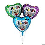 "12 ""Happy Birthday"" Mylar Balloons"