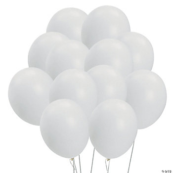 White Latex Balloon
