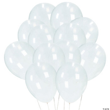 Diamond Clear Latex Balloons