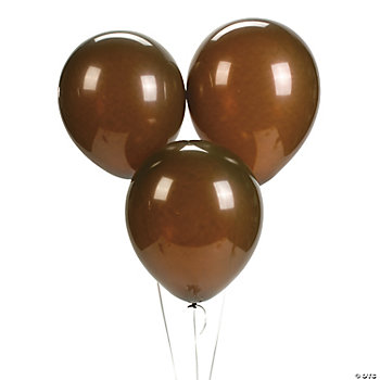 Latex Chocolate Brown Balloons