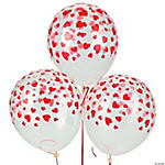 Latex Heart Print Balloons
