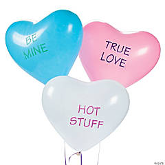 Latex Conversation Heart Balloons