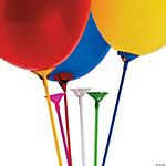 Multicolor Balloon Sticks With Cup