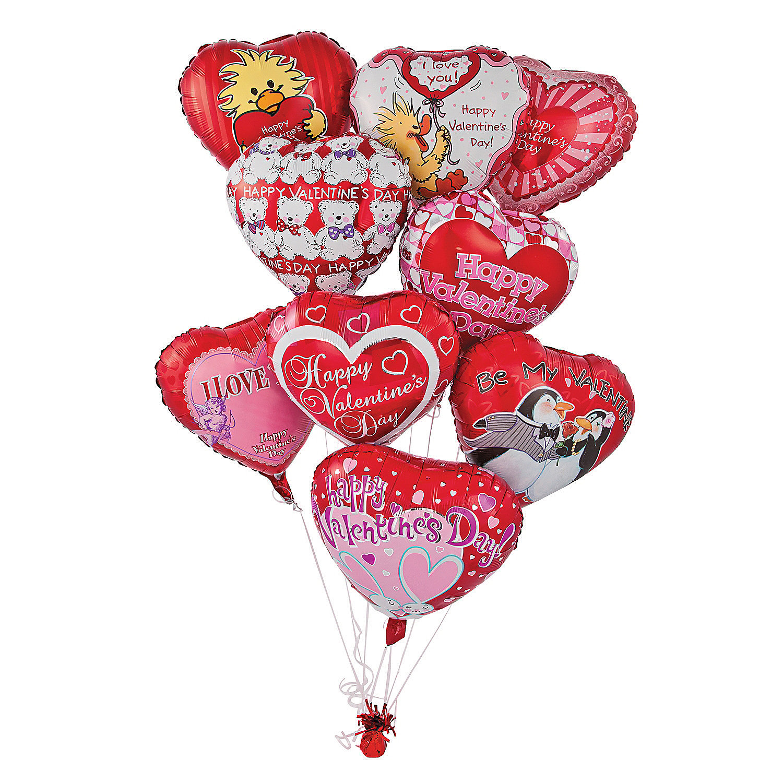 Mylar valentine balloon assortment oriental trading