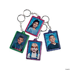 Glitter Photo Frame Key Chains
