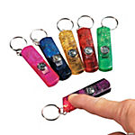 3-In-1 Whistle, Toy Compass & Light Key Chains