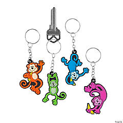 Vinyl Neon Monkey Key Chains