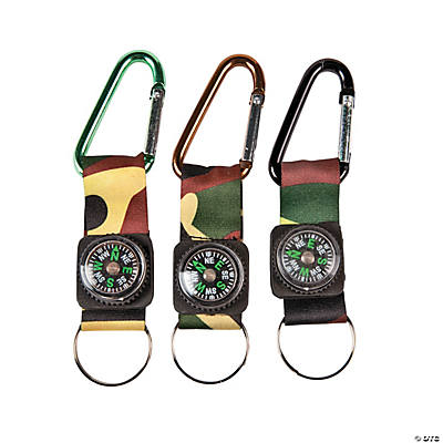 Camouflage Army Belt Clip Toy Compass Key Chains