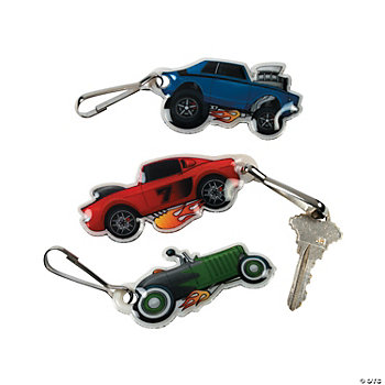 Race Car Belt Clip Key Chains